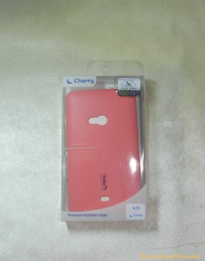 Lumia 625 Soft Case Cherry (สีชมพู)
