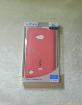 Lumia 720 Soft Case Cherry (สีชมพู)