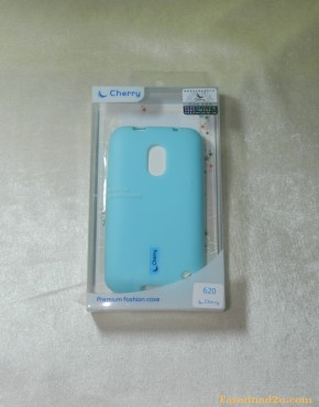 Lumia 620 Soft Case Cherry (สีฟ้า)